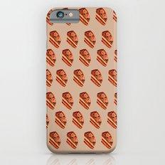 Choco cake slice in watercolor iPhone 6s Slim Case