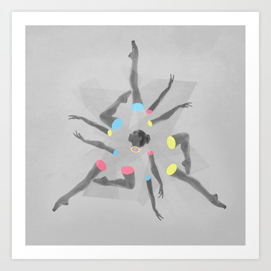 Break Dancer Art Print
