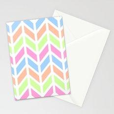 SPRING CHEVRON 3 Stationery Cards