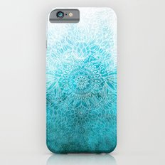 Fade to Teal - watercolor + doodle Slim Case iPhone 6