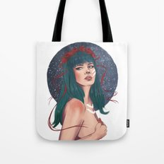 She Wore Ribbons of the Cosmos Tote Bag