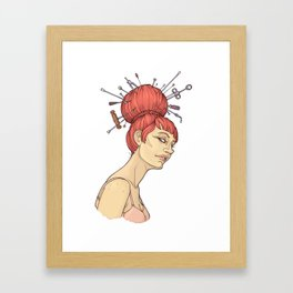 get out of your hair Framed Art Print