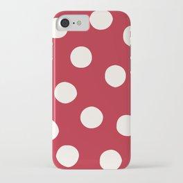 Red Random Polka Dots iPhone Case