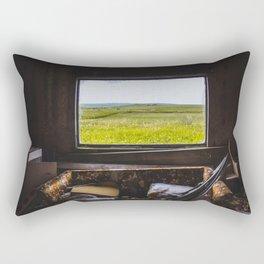 View from the Yellow House, Arena, North Dakota 1 Rectangular Pillow