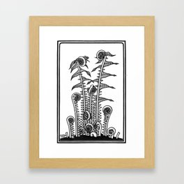 Ferns - 1920s Block Print Framed Art Print