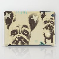 foo fighters iPad Cases featuring FOO FOO FRENCHIE with Pet Bunny by Haus Of Lelu