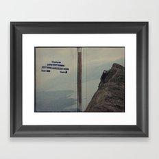 Yeti expedition Framed Art Print
