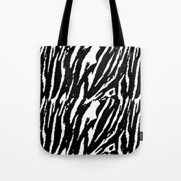 Tiger Black & White Tote Bag