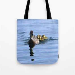Mallard Duck Family Tote Bag