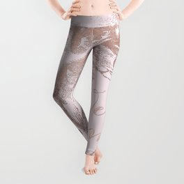 Alice in the rose gold - We're all mad here Leggings