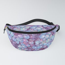 Blue Purple Grape Pattern Fanny Pack