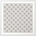 Mid-Century Modern Geometric Pattern, rounded corner squares interlocking by audreyjeannes