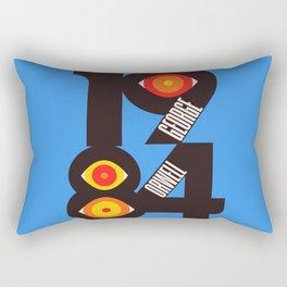 1984, book cover, books illustration, Book wall art, George Orwell novel, Nineteen Eighty-Four Rectangular Pillow