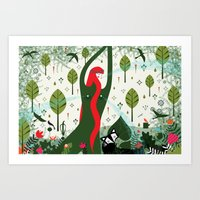 You are a Garden Fountain (by Thereza Rowe) Art Print