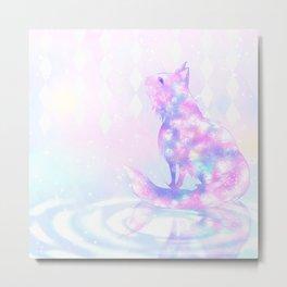 Pastel Cat Metal Print