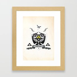 Hylian Zelda Framed Art Print