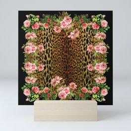Rose around the Leopard Mini Art Print