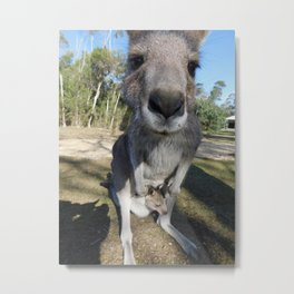 Cute Kanga and Joey Metal Print