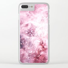 Pink Tarantuala Nebula Core Clear iPhone Case