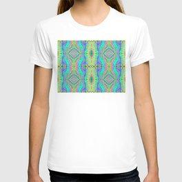 Flowing Life Art Fractal 3B Quad - Organic River T-shirt