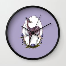 Fawn and Thistle Wall Clock