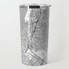 Tel Aviv Map Line Travel Mug
