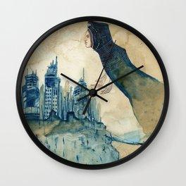 Breathing Life Into Ruins Wall Clock