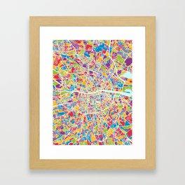 Dublin Ireland City Map Framed Art Print
