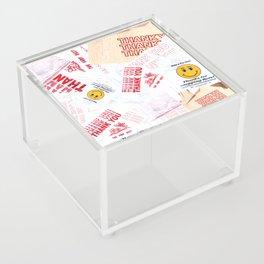 Thank You Take-Out Acrylic Box