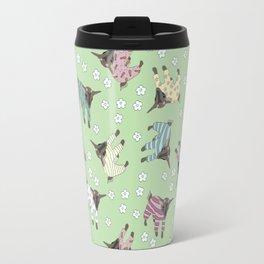 Pajama'd Baby Goats - Green Travel Mug
