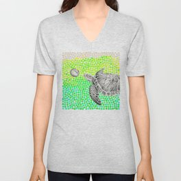 New Friends 1 by Eric Fan and Garima Dhawan Unisex V-Neck