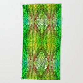 digital texture Beach Towel