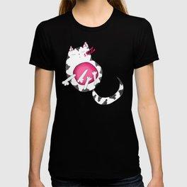 Sleepy Striped Kitty Cat T-shirt