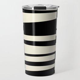 BW Oddities II - Black and White Mid Century Modern Geometric Abstract Travel Mug