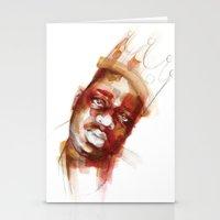 biggie Stationery Cards featuring Biggie  by Allison Kunath