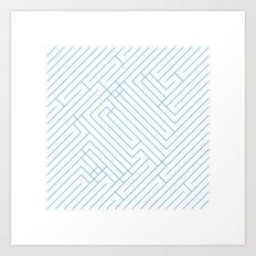 #194 Maze – Geometry Daily Art Print