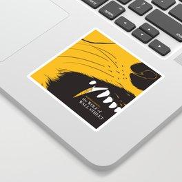 The Wolf of Wall Street | Fan Poster Design Sticker