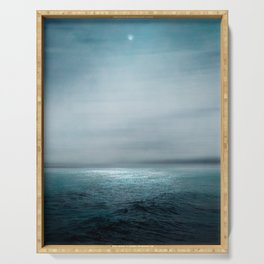 Sea Under Moonlight Serving Tray