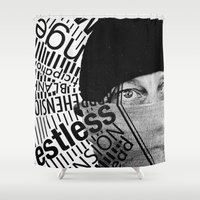 anxiety Shower Curtains featuring Anxiety by Callen Guidry