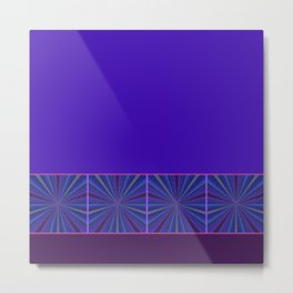 Mesmerized by Blues and Purples Metal Print