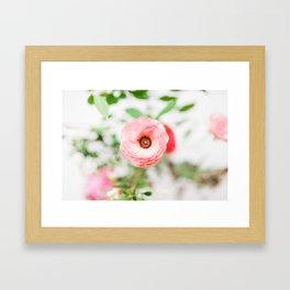 One Pink Flower Framed Art Print