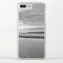 Weston-super-Mare black and white Clear iPhone Case