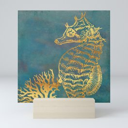 Deep Sea Life Seahorse Mini Art Print