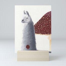 The camelid and the mushroom situation Mini Art Print