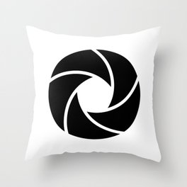 Camera Lense Throw Pillow