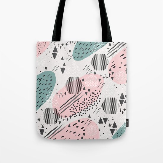 Geometric shapes & strokes Tote Bag