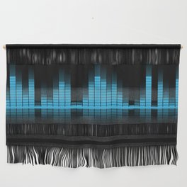 Cool Blue Graphic Equalizer Music on black Wall Hanging