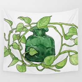 Blenko Glass & Plant Wall Tapestry