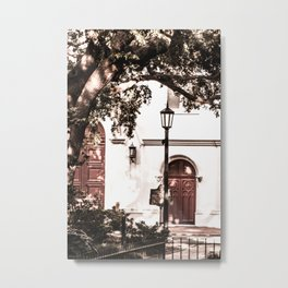 Red Door in Georgia Metal Print