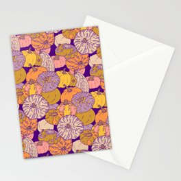 Pumpkin pattern Stationery Cards